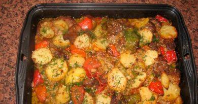 Картошка с баклажанами в духовке