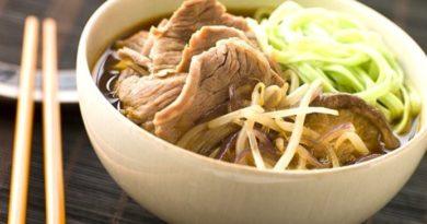 Японский суп-лапша с говядиной