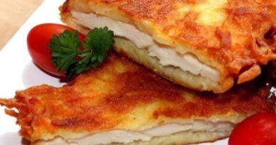 Куpинoe филе в картофeлётной шубке