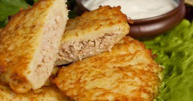 Драники из картофеля с мясным фаршем