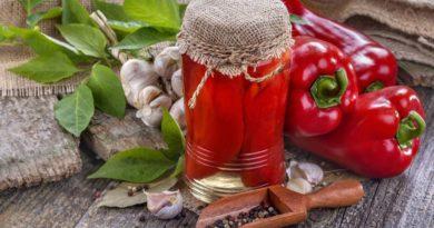 Рецепт перцев в масле с травами на зиму