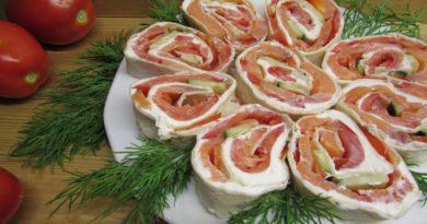 Вкусный рулет из лаваша с рыбой и творожным сыром — супер закуска для праздничного стола