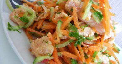 "Корейский салат ""Хе из рыбы"""