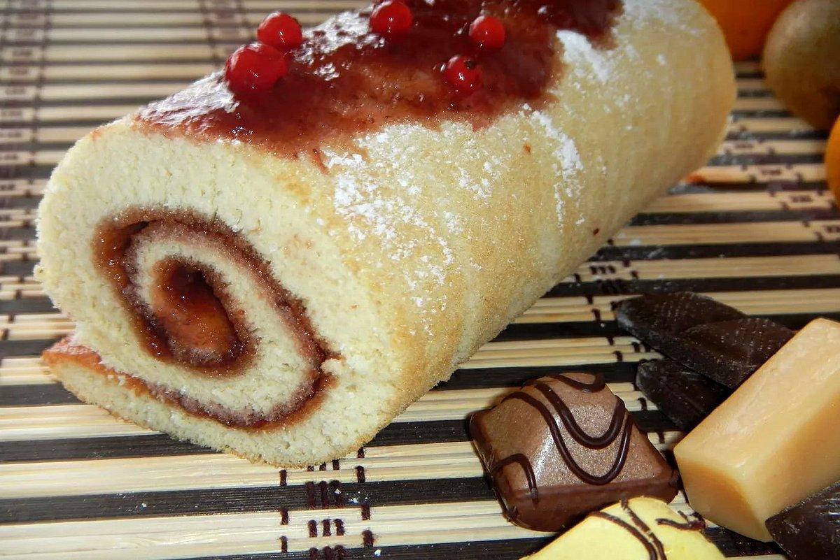 осенние мотивы рулет из бисквита рецепт с фото большого