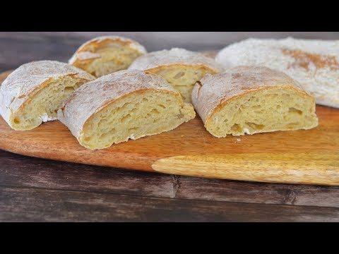 Чиабатта (хлеб без замеса) в домашних условиях