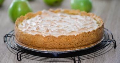 Яблочный пирог с белковой начинкой