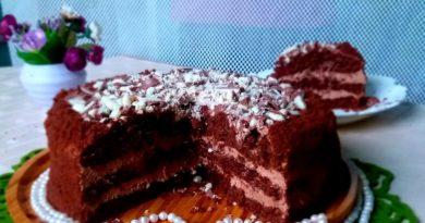 Шоколадный торт с кремом «Филадельфия»
