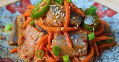 Рыба «хе» по-корейски