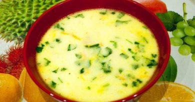 Суп с плавлеными сырками и вермишелью