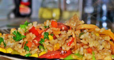 Гарнир из риса по-восточному