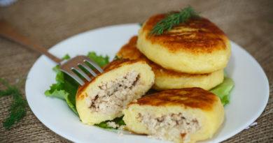 Картофельные котлеты с куриным мясом