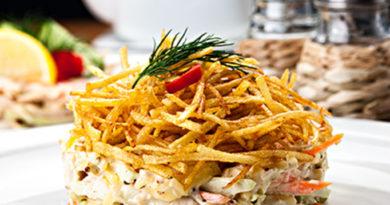 Салат с картофелем фри «Зимний»