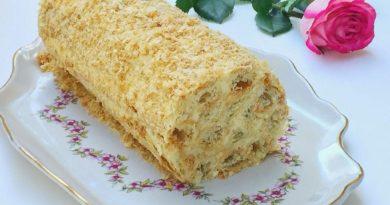 """Торт """"Полено"""" (самый простой рецепт)"""