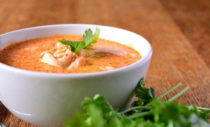 Карри-суп с рыбой