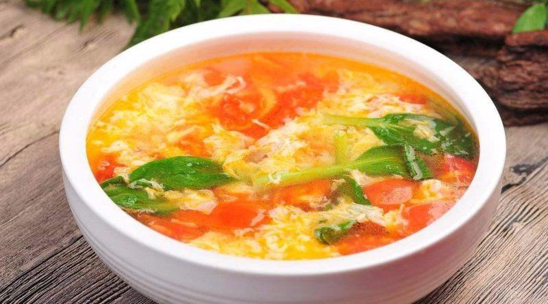 Помидорно-яичный суп Рецепт китайской кухни