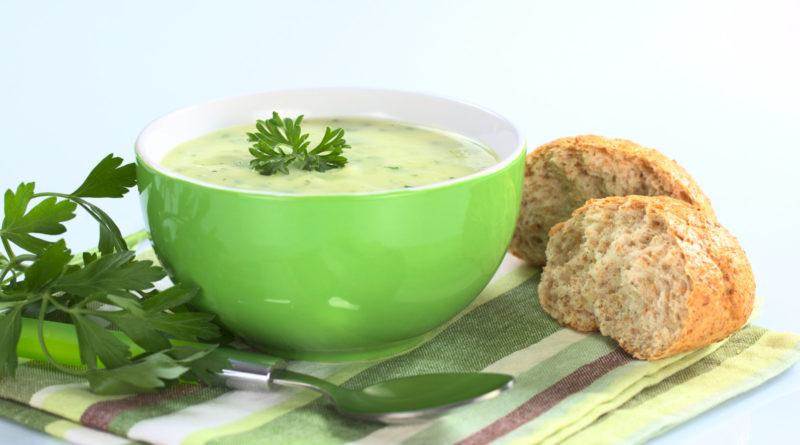 Простой крем-суп из кабачков