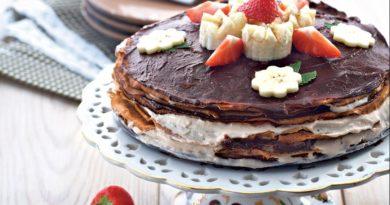Банановый блинчатый торт