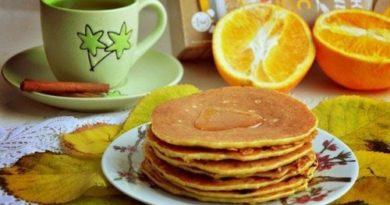 Овсяно-апельсиновые блинчики