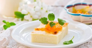 Молочный пирог с ванилью