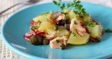 Рыбный салат с каперсами
