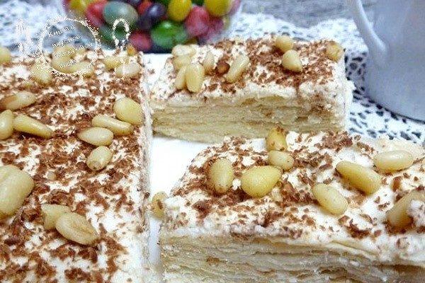 Торт без выпечки с творожным сыром (из лаваша)