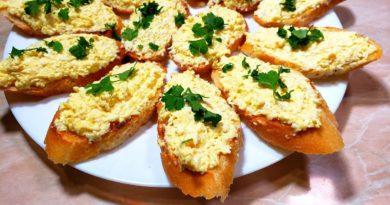 Картофельно-яичная намазка для бутербродов
