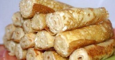 Блинчики на кефире с творожным сыром