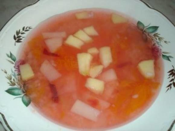 Винно-фруктовый суп