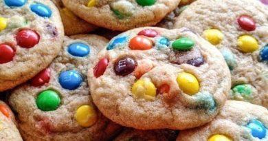 Овсяное печенье с M&Ms