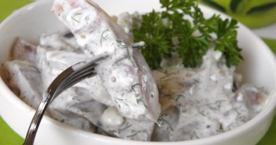 Сельдь под горчичным соусом по-старорусски