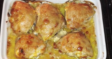 Курица под майонезом в духовке