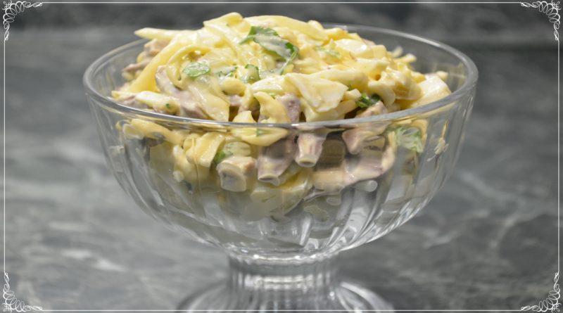 Сырный салат с сердцем