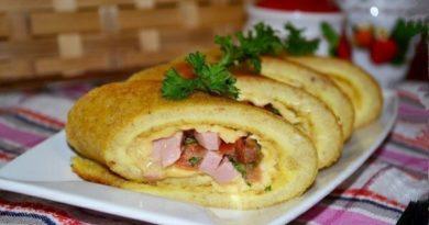 Яичные роллы с начинкой на завтрак
