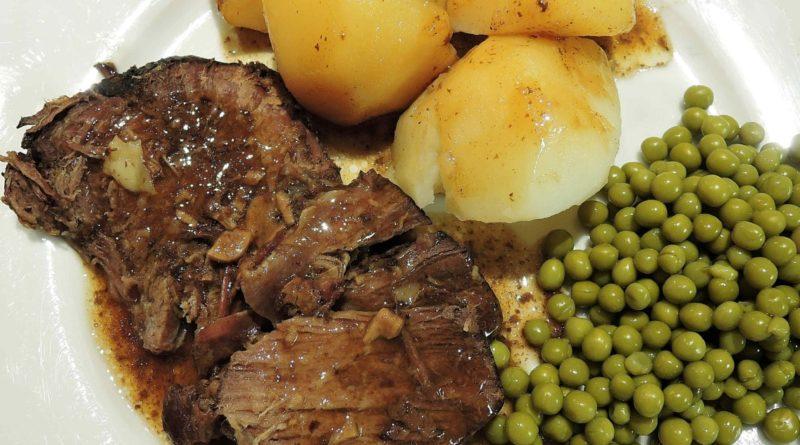 Мясо с гарниром (одновременно)