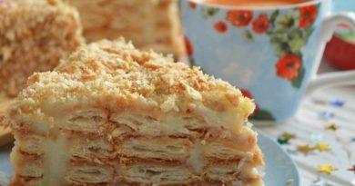 """Ленивый торт """"Наполеон"""" (без раскатки коржей)"""