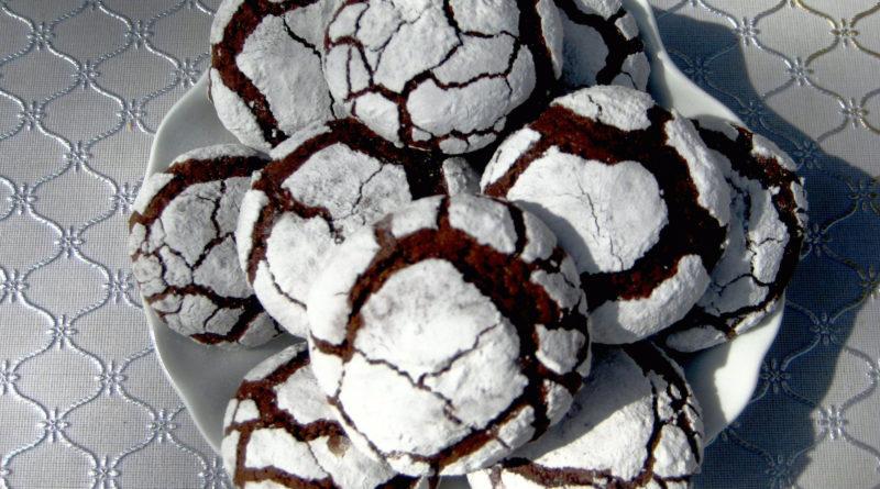 """Шоколадное печенье """"Трещинки"""""""