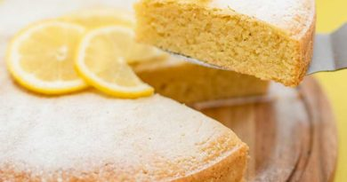 Лимонный пирог с лимонным сиропом