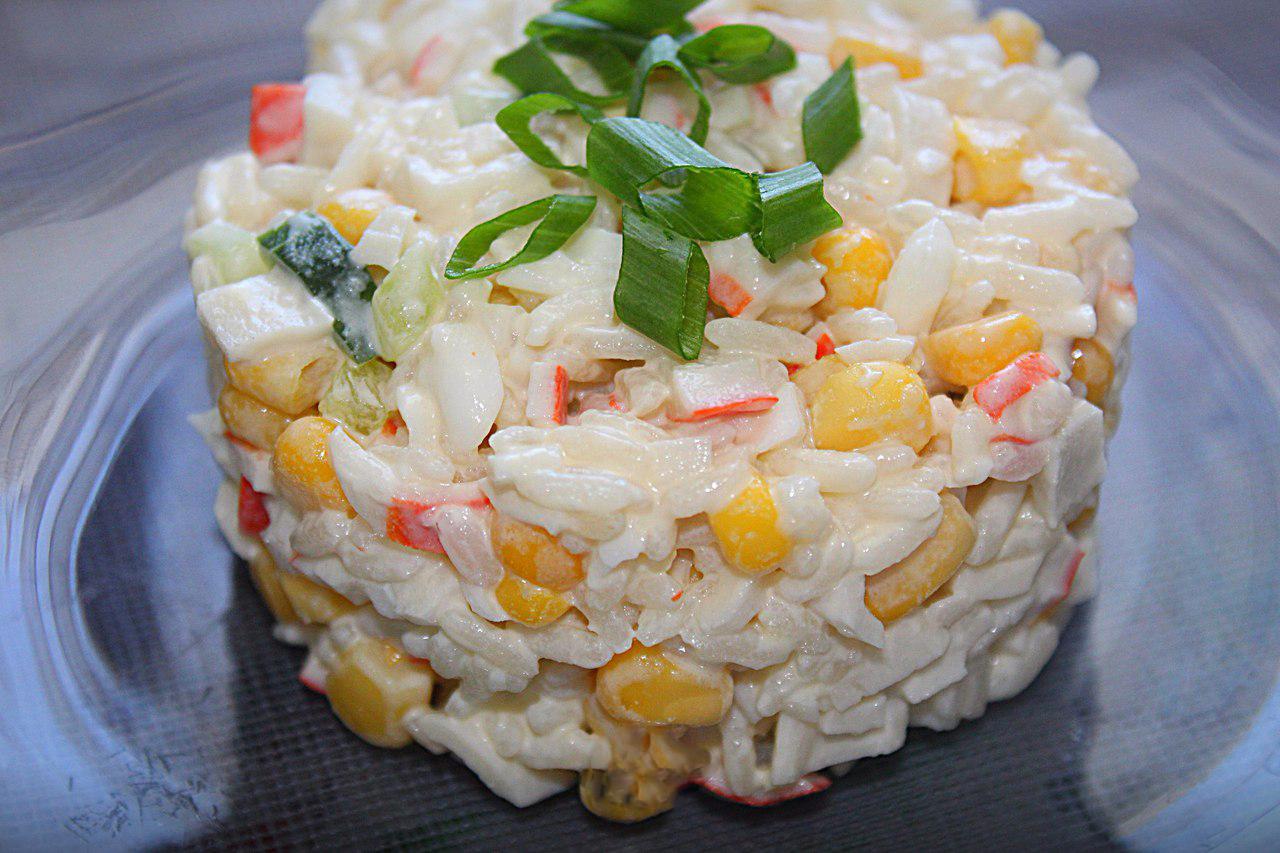 всегда простые салаты из риса рецепты с фото вариант
