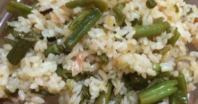 Рис с зеленой фасолью