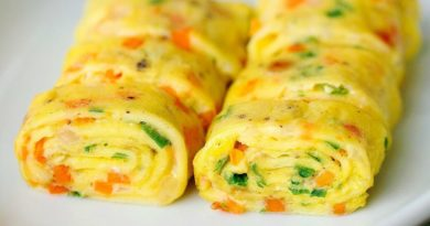 Роллы из яиц (на завтрак)