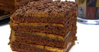 Торт медовик шоколадный без раскатывания коржей