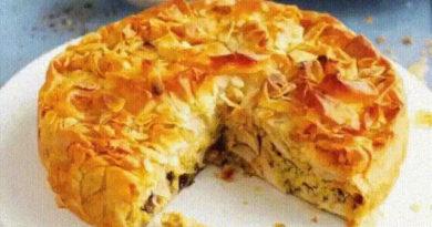 Заливной мясной пирог за 15 минут