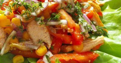 Легкий салат к любому блюду