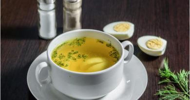 Яично-сырный бульон