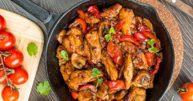 Курица с перцами по-сицилийски