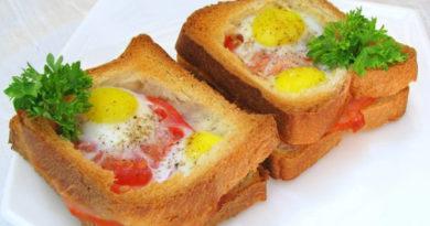 Яйца в хлебе по-парижски