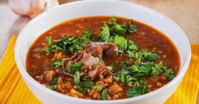 Суп-харчо с телятиной