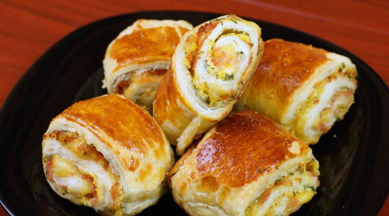 Очень сырные булочки-рулетики