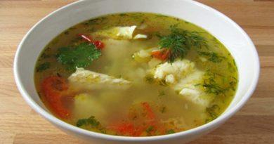 Суп из минтая с рисом