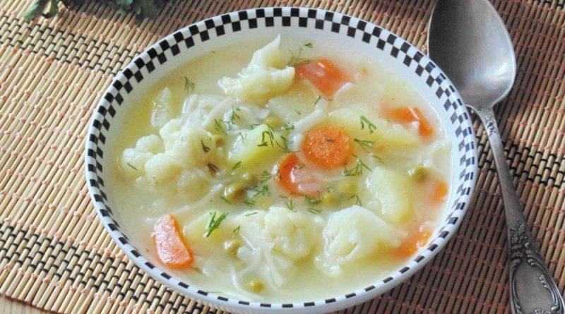 Индийский суп из цветной капусты
